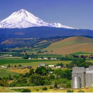 Mt. Hood and the town of Dufur